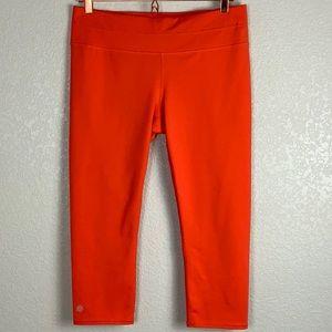 New Athleta Running Capri Tights Orange L